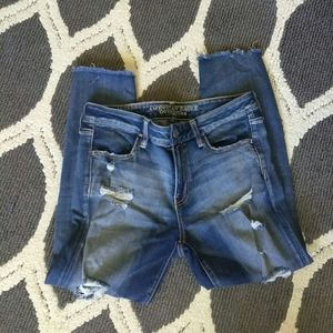 American Eagle Distressed Crop Jeggings - SZ 10